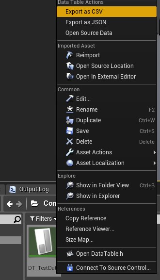 UE4 18】csvファイルをデータテーブルにインポートする(構造体が構造体の